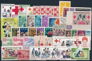 1930-2005 Red Cross motive 46 stamps with sets, 1930-2005 Vöröskereszt motívum 46 db klf bélyeg, közte teljes sorok
