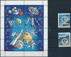 1963 -1971 Space research 2 stamps + minisheet 1963 -1971 Űrkutatás 2 klf bélyeg + 1 kisív