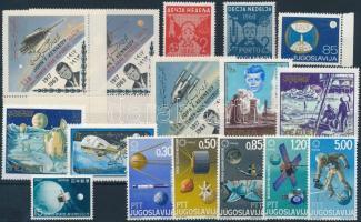 1960 - 1967 Space research 16 stamps, 1960 - 1967 Űrkutatás 16 klf bélyeg