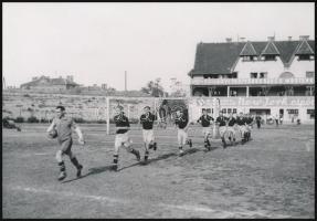 Futballcsapat, fotó, 11x16 cm