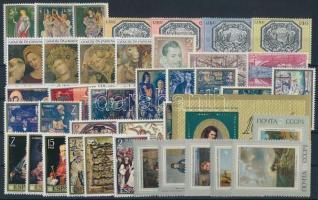 Painting motive 1971-1973 10 sets + 1 block + 1 stamp, Festmény motívum 1971-1973 10 klf sor + 1 blokk + 1 önálló érték