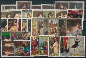 Art motive 1967-1973 31 stamps, Művészet motívum 1967-1973 31 klf bélyeg