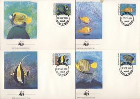 1986 WWF Halak FDC Mi 1198-1201