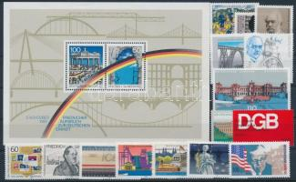 1988-1999 Railway motive 15 stamps + block on stock card, 1988-1999 Vasút motívum 15 db klf bélyeg + 1 db blokk stecklapon