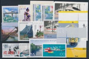 1993-2009 Railway motive 15 stamps, with corner and self-adhesive stamps 1993-2009 Vasút motívum 15 db klf bélyeg, közte ívsarki és öntapadós bélyegek
