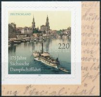 175 éves a Szászország gőzhajózás öntapadós bélyeg 175th Anniversary of the steamboating in Saxony