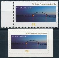 Híd ívszéli bélyeg és öntapadós változata Bridge margin stamp and self-adhesive variant