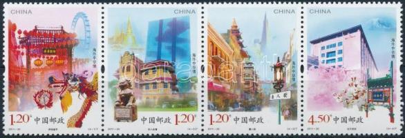 2011 Kínai kultúra külföldön négyescsík Mi 4279-4282
