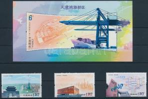 2011 Területfejlesztés; Binhai sor Mi 4317-4319 + blokk Mi 179