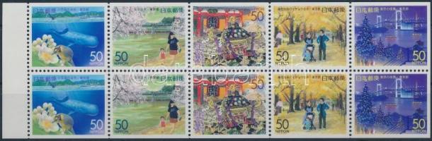 2000 Prefektúra; Tokió bélyegfüzetlap Mi 2847-2851
