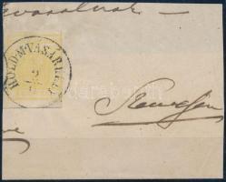 1850 1kr MP citromsárga ,,HOLD.M.VÁSÁRHELY