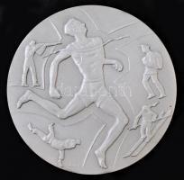 Iván István (1905-1968) 1968. BM Sportbajnokság Országos Döntő emlékül fém emlékérem (80mm) T:2