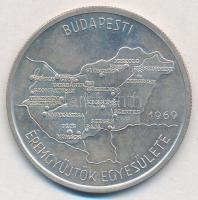 Csúcs Ferenc (1905-1999) 1969. Budapesti Éremgyűjtők Egyesülete az Egyesület alapítási Ag érme, hátoldalán gravírozott T:1- Adamo BP1