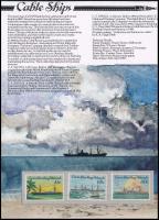 Ship set in decorative holder, Hajó sor díszcsomagolásban
