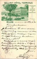 Milano, Milan; Bellini's Hotel Terminus, Place Gare Centrale