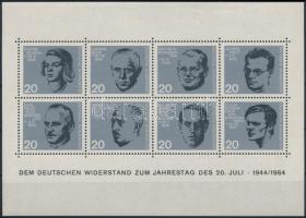 Hitler elleni merénylet 20. évfordulója blokk 20th Anniversary of Hitler's Assassination block