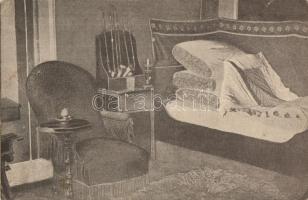 Patul lui Arany János si scaunul in care a murit, Arany János ágya és a szék amelyen meghalt