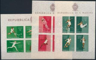 Summer Olympics, Rome imperforated blockset Nyári olimpia, Róma vágott blokksor