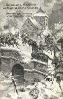 WWI K.u.K. military, cavalry with Russian Cossacks, Osztrák-magyar lovasság orosz kozákokat üldöz