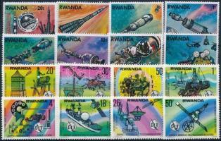 1976-1977 Space Flight + Telecommunication 2 diff set, 1976-1977 Űrrepülés + Telekommunikáció 2 klf sor