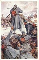 Aus dem goldenen Buche der Armee Serie I. Rotes Kreuz Postkarte Nr. 199. / K.u.K. military art postcard s: A. Marussig, K.u.K. hadsereg művészeti képeslap, s: A. Marussig