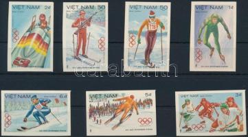 Olympics imperforated set Olimpia vágott sor
