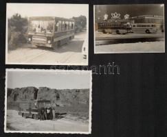 3 db régi Ikarus modelleket ábrázoló fotó az 1950-70-es évekből.12x8 cm
