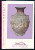 Old clay pots set in memorial sheet, Régi agyagedények sor emléklapban