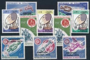 1975-1976 Telecommunication + space research 4 sets, 1975-1976 Távközlés + űrkutatás 4 klf sor