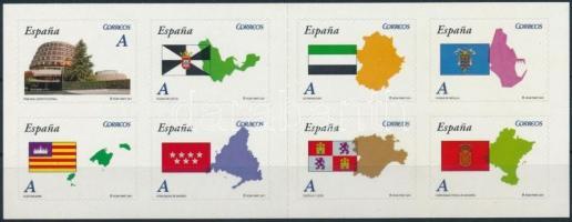 Autonóm körzetek öntapadós bélyegfüzetlap Autonomous districts self-adhesive stamp-booklet sheet