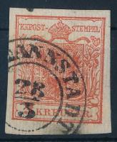 1850 3kr HP (I)a ,,(HER)MANNSTADT Certificate: Steiner