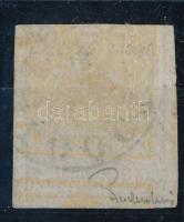 1850 1kr HP (Ib)okkersárga kétoldali nyomat ,,(G)ALGÓCZ Ferchenbauer meghatározással és szignóval