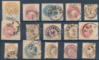 15 stamps with readable cancellations, 15 db bélyeg szép/ olvasható bélyegzésekkel