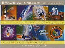Space Research imperforated mini sheet Űrkutatás vágott kisív