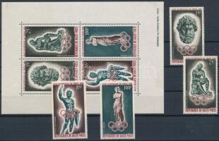 1964 Olimpia sor Mi 148-151 + blokk Mi 1