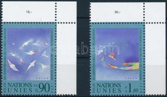 1998 Emberi jogok ívsarki sor + kisívsor Mi 350-351