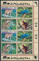 Endangered species corner block of 8 Veszélyeztetett fajok ívsarki 8-as tömb