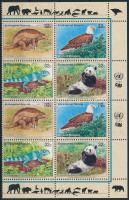 Endangered species corner block of 8, Veszélyeztetett fajok ívsarki 8-as tömb