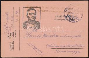 1917 Tábori posta levelezőlap TP 632 b