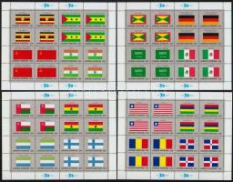 Flag minisheet set, Zászló kisívsor