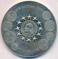Libéria 2003. 5$ Cu-Ni Új vatikáni érmék T:1,1- Liberia 2003. 5 Dollars Cu-Ni New Vatican Coins C:UNC,AU