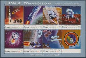 Apollo Program mini sheet Apolló program kisív