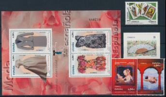 2009-2010 1 set + 1 block + 2 stamps, 2009-2010 1 sor + 1 blokk + 2 db önálló érték