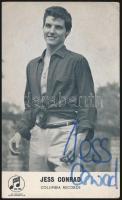 Jess Conrad (1936- ) színész-énekes aláírása őt magát ábrázoló fotólapon