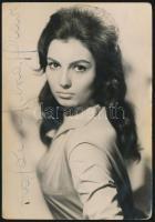 Rosanna Schiaffino (1939-2009) olasz színésznő aláírása őt magát ábrázoló fotón