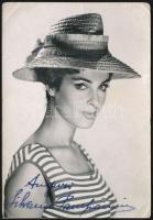 Silvana Pampanini (1925-2016) olasz színésznő aláírása őt magát ábrázoló fotón