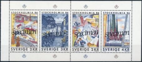 """Stamp Exhibition block """"SPECIMEN"""" Bélyegkiállítás blokk """"SPECIMEN"""""""