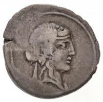 Római Birodalom / Róma / Q. Titius Kr. e. 90. Denár Ag (4,03g) T:2- ph. Roman Empire / Rome / Q. Titius 90. BC. Denarius Ag [Q.TI]TI (4,03g) C:VF edge error Sear 239.