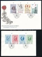 """1983-1984 Bélyegkiállítás blokkok """"SPECIMEN"""" 2 db FDC-n 1983-1984 Stamp Exhibition block """"SPECIMEN"""" 2 FDC"""