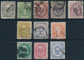 1876-1888 11 stamps 1876-1888 11 klf bélyeg